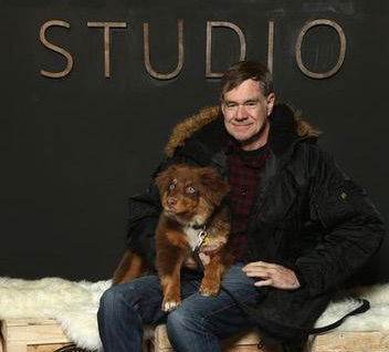 Director Gus Van Sant with his High Desert Aussie puppie @ Sundance Film Festival, 01/22/18